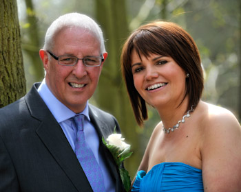 Wedding Couple at the Forest of Arden Hotel
