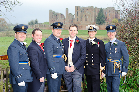 Groomsmen at Kenilworth Castle Wedding