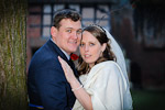 Bride and Groom, relaxed, at Kenilworth Castle, Warwickshire