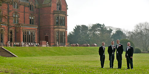 Wedding Party at Wroxall Abbey, Warwickshire