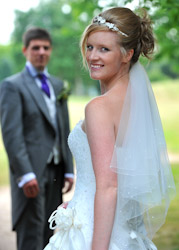 Bride and Groom at Whitefields Country Club